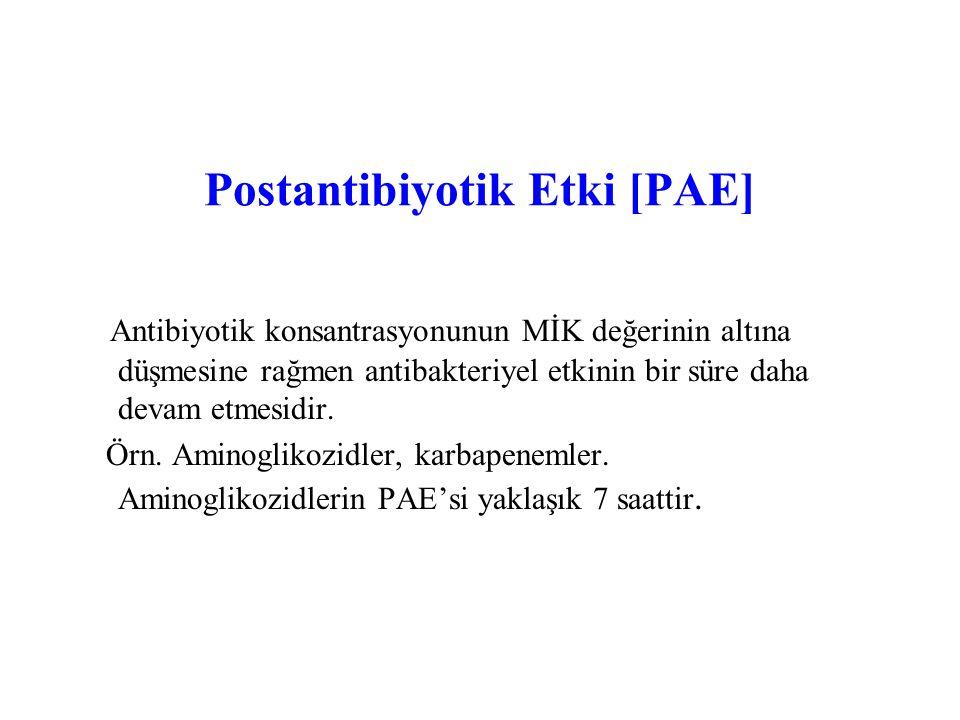 Postantibiyotik Etki [PAE]